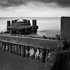 Hunstanton Beach Groyne, Norfolk by DaveTurner