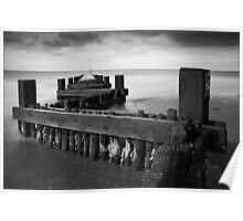Hunstanton Beach Groyne, Norfolk Poster