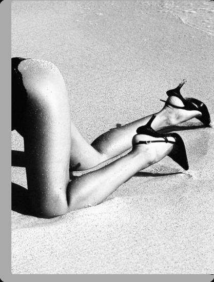 High Heels on the Beach by dcdigital