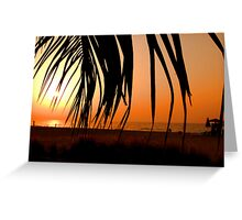 Sunset on Jumeirah Beach  Greeting Card