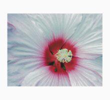 White Platter Hibiscus Flower Kids Clothes