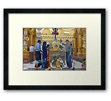 Thursday Corner Shwedagon Pagoda Framed Print