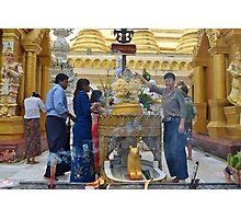 Thursday Corner Shwedagon Pagoda Photographic Print