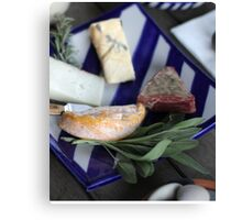 Cheese Platter Canvas Print