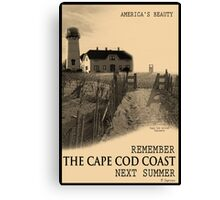 Cape Cod Coast Poster Canvas Print