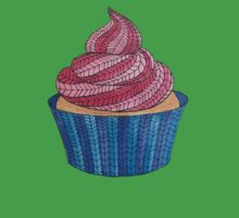 Pink & Blue Patterned Cupcake  Kids Clothes