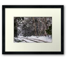 Snow Through Road Framed Print
