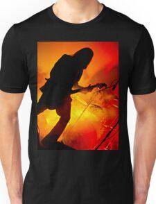 fire and the rocker shape  Unisex T-Shirt