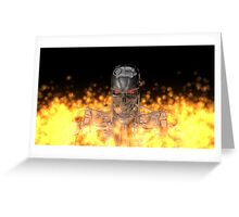 Terminator T-800 In Flame  Greeting Card