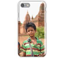 Pagoda Boys in Bagan iPhone Case/Skin
