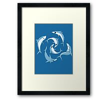 School of Happy Sharks Framed Print