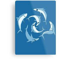 School of Happy Sharks Metal Print