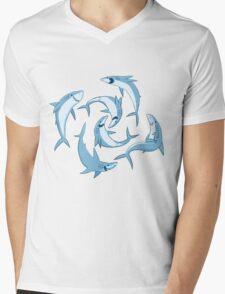 School of Happy Sharks Mens V-Neck T-Shirt