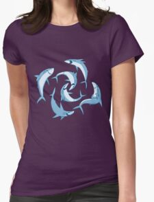 School of Happy Sharks Womens Fitted T-Shirt