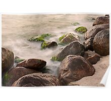 Sunset waterscape with pastel colors Poster
