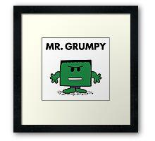 The Hulk - Mr Grumpy Framed Print