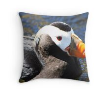 Pacific Coast Puffin Throw Pillow