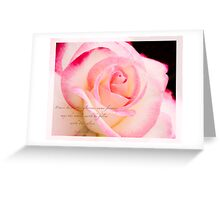 Rose Pink Edge Greeting Card