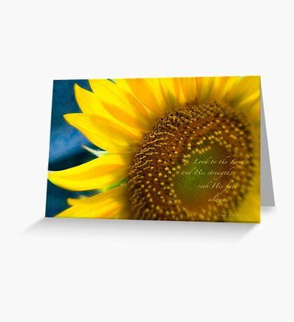 Sunflower Blue Greeting Card