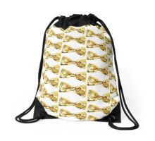 Gold Necktie Drawstring Bag