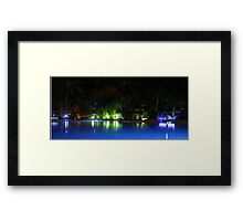 a pool of neon  Framed Print