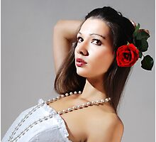 Wedding rose Photographic Print