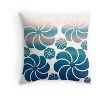 Pink Blush and Teal Blue Ombre Hawaiian Inspired Mosaic Flower Waterfall Back to School Throw Pillow