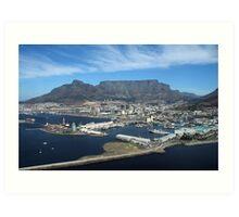 Table Mountain on a Blue-sky Day Art Print