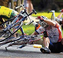 Cycle Race Wreck by Brett Clark