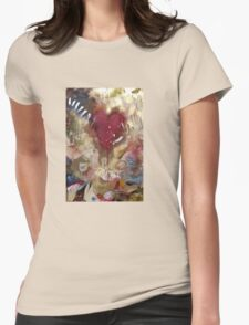 'Raw'- Jeff Buckley  (No. 3 in the Rock Music Art Series) Womens Fitted T-Shirt