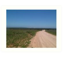 An Eastern Cape Country Road Art Print