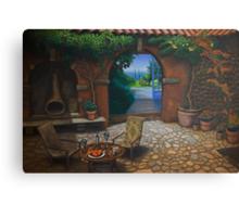 The Secret Courtyard, Amalfi, Italy. Canvas Print