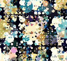 Textural Circles Abstract by Phil Perkins