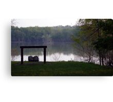 Swing at the Lake Canvas Print