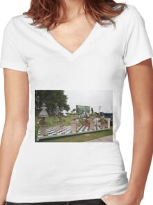RHS Flower show Tatton Park 2015 Women's Fitted V-Neck T-Shirt