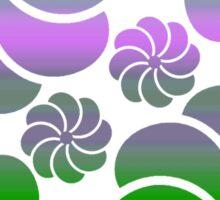 Mosaic White Purple True Green Ombre Flower Waterfall Hawaiian Inspired Back to School Sticker