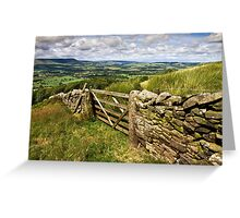 The Lancashire countryside Greeting Card