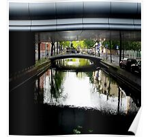 Bridges on canal Poster