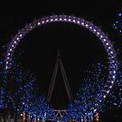 London Eye by Night by Audrey Clarke