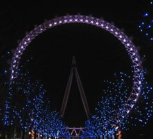 London Eye by Night by Audrey Clarke
