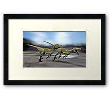 RAPTOR HUNT Framed Print