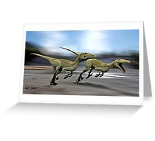 RAPTOR HUNT Greeting Card