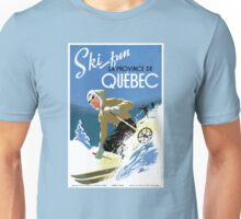 Quebec Canada Vintage Travel Poster Restored Unisex T-Shirt
