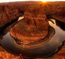Late Afternoon At Horsehoe Bend - 1 ©  by © Hany G. Jadaa © Prince John Photography