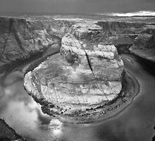 Horseshoe Bend - Monochrome ©  by © Hany G. Jadaa © Prince John Photography