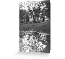 Untitled Black and White Greeting Card