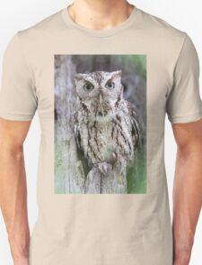 Grey Screech Owl Unisex T-Shirt