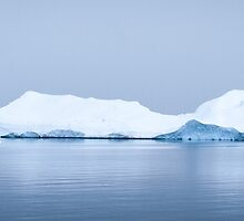 Penguin Approaches Ice Berg by JamesStone