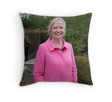 Carol Kirkwood BBC Weather presenter Throw Pillow
