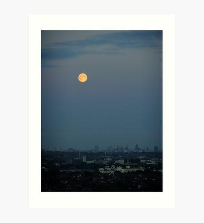 Moon over the City Art Print
